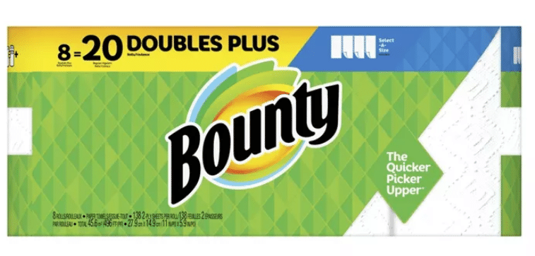 24-Count Bounty Doubles Plus Rolls Paper Towels + $15 Target Gift Card
