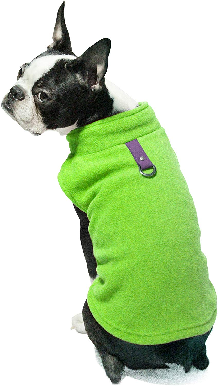 Gooby - Fleece Vest, Small Dog Pullover Fleece Jacket with Leash Ring - Medium Green $3.54 or Large Pink $4.08 at Amazon
