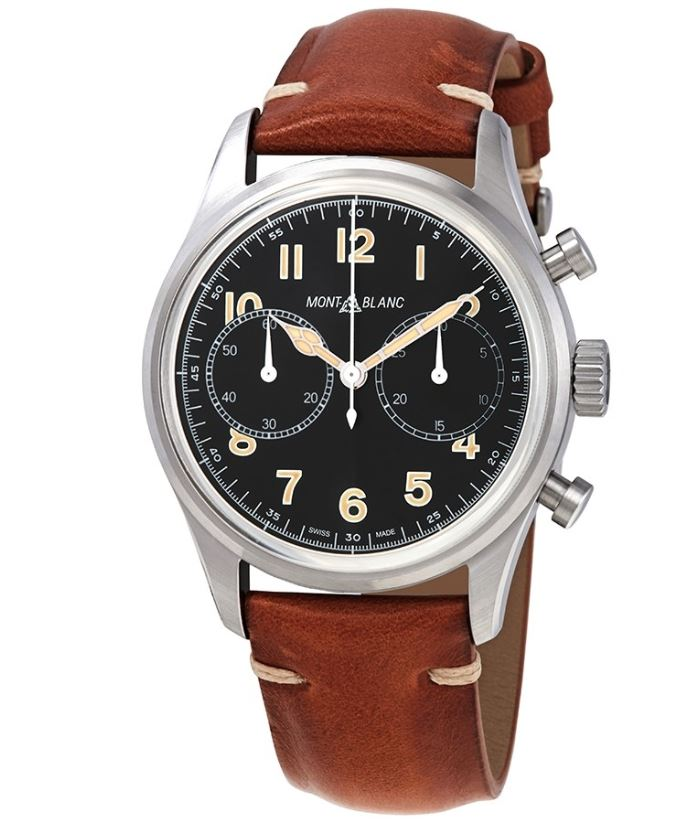 MONTBLANC 1858 CHRONOGRAPH AUTOMATIC BLACK DIAL MEN'S WATCH 117836, $1645 and Free Shipping.