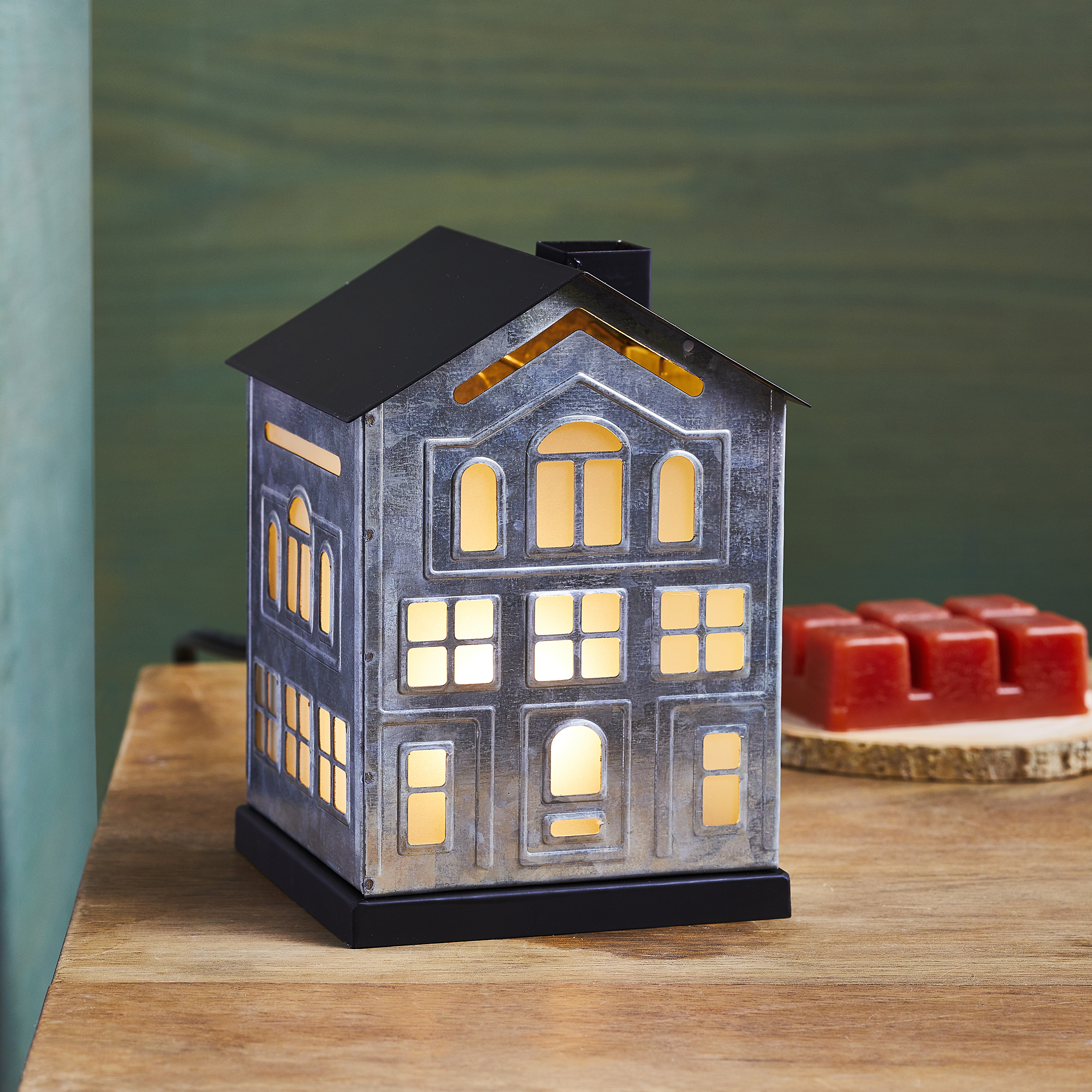 Better Homes & Gardens Galvanized House Full Size Wax Warmer $10 + Free Store Pickup at Walmart