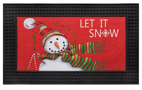 "Natco Holiday 18""x30"" LED Light Doormats: Let it Snow or Winter Truck"