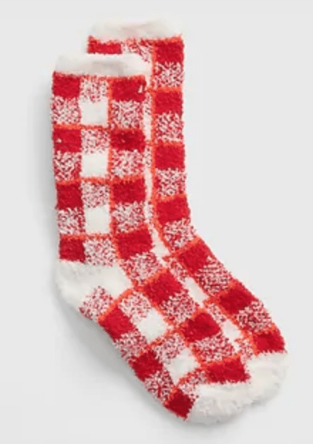 Gap.com Women's Accessories: Reversible Pom-Pom Beanie $7, Cozy Print Socks