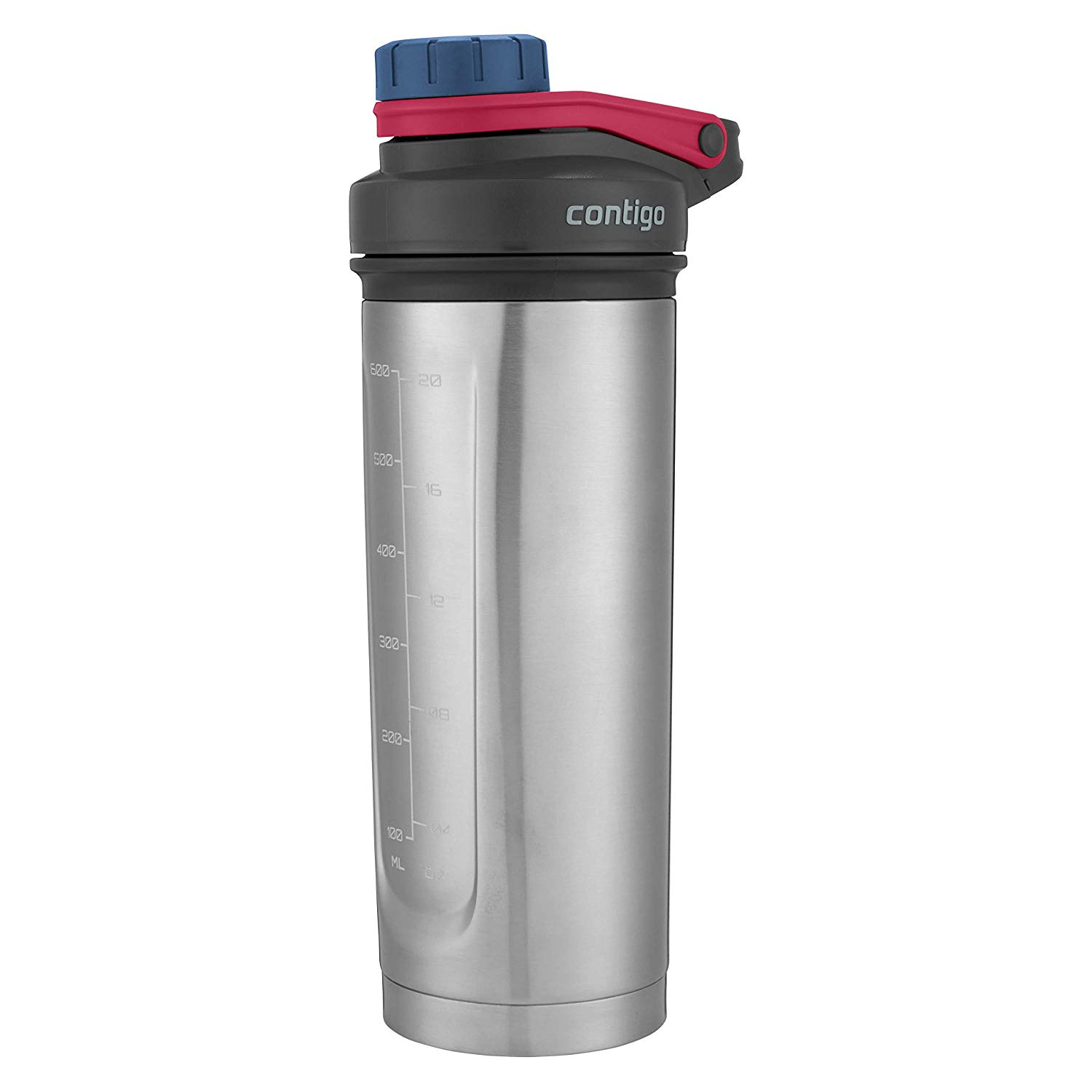 24oz Contigo Shake & Go Fit THERMALOCK Stainless Steel Shaker Bottle