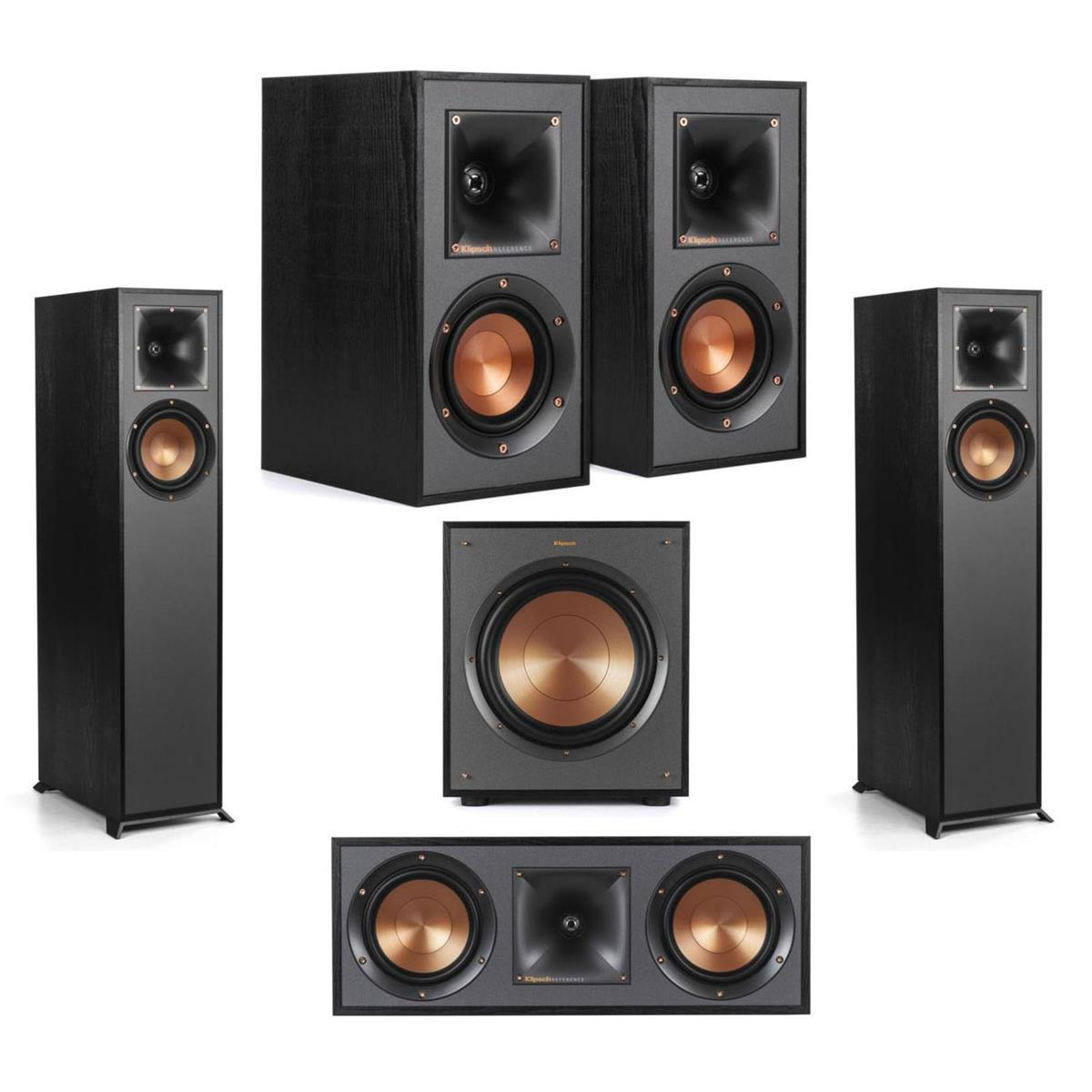 Klipsch: R-610F Floors (Pair) + R-41M Book (Pair) + R-52C Center + R-100SW Sub