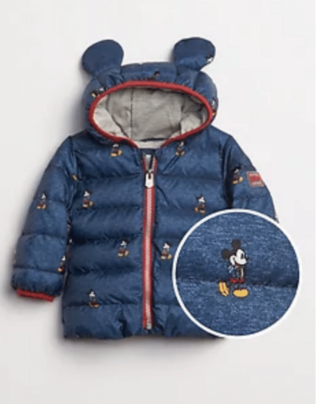 Gap.com: Extra 40% Off + 20% Off: Baby Mickey or Minnie Mouse Puffer Jacket