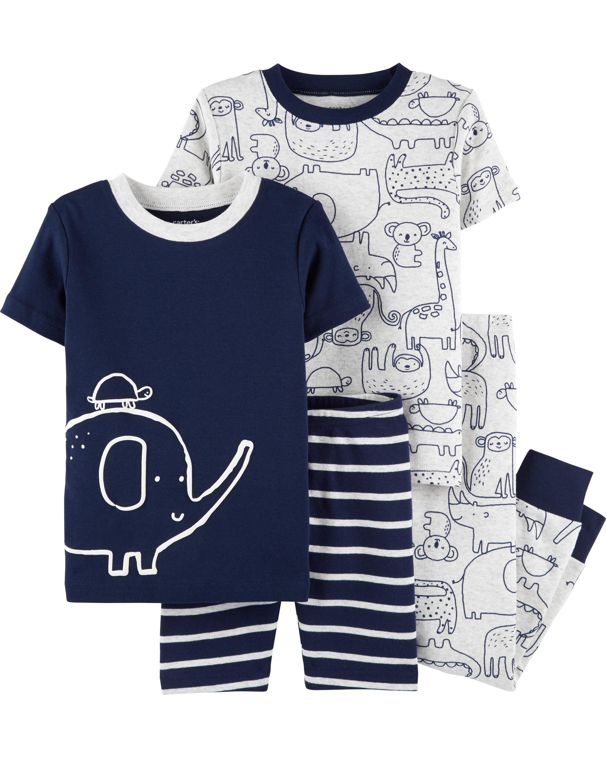 Carters Baby or Toddler Boys' or Girls' 4-Piece PJ Sets (select styles) 2 for $16.50 ($8.25 per 4pc set) + free shipping