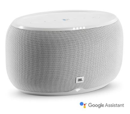 JBL Link 300 Bluetooth Voice Activated Speaker w/ Google Assistant (White)