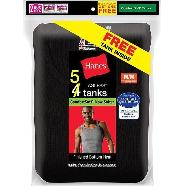 5-Pack Hanes Men's Sleeveless Undershirts