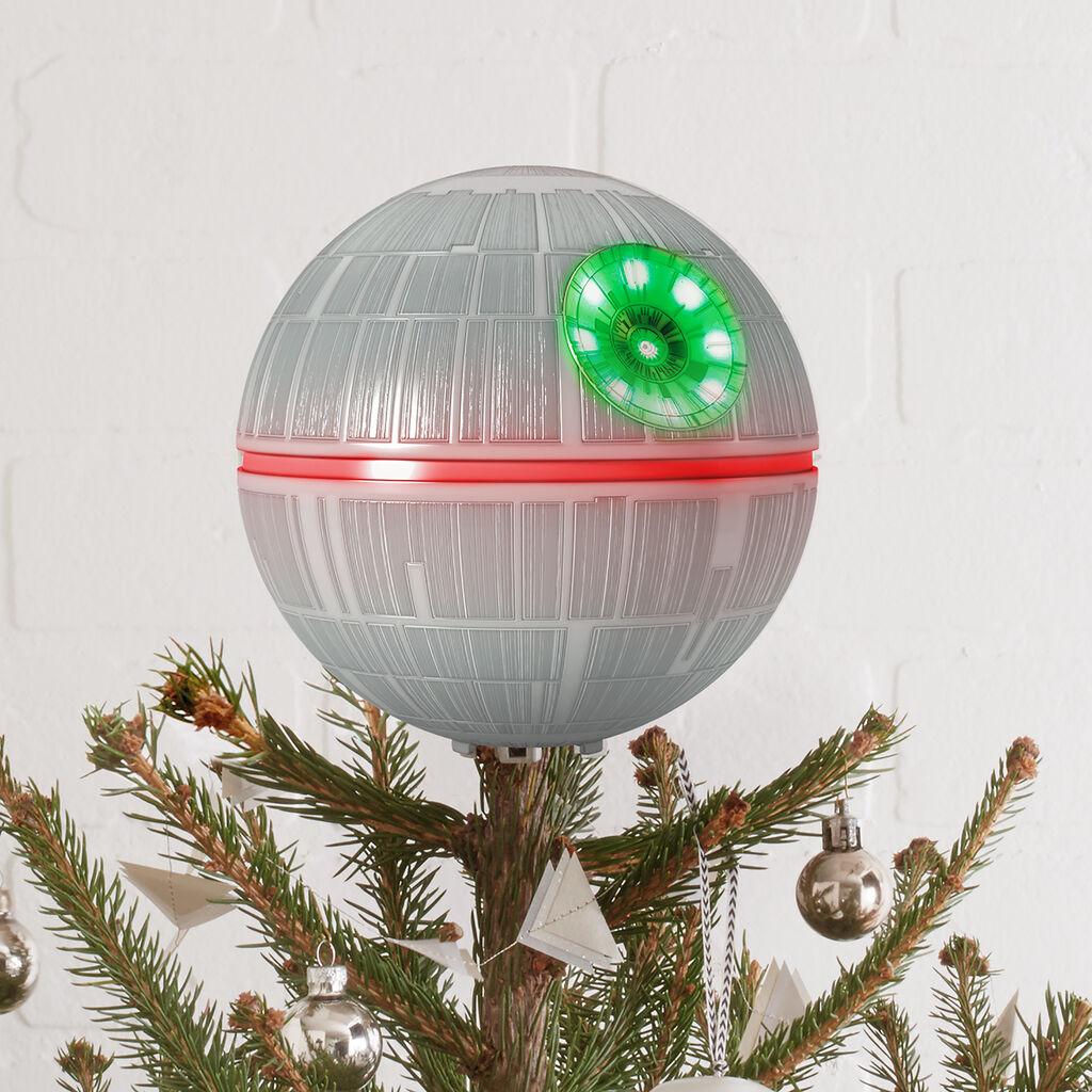 "Hallmark Star Wars Christmas Ornaments: 6.3"" Death Star Christmas Tree Topper"