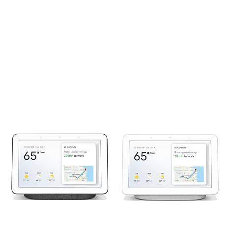 """2-Pack Google 7"""" Touchscreen Nest Hub Smart Assistants"""
