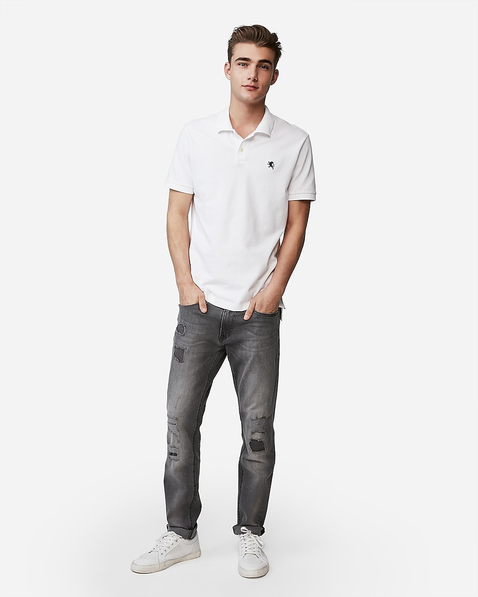 Express: Extra 50% Off Clearance: Stretch Pique Polo (various colors)