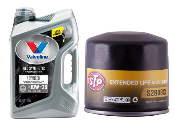 AutoZone Stores: 5-Quarts Valvoline Full Synthetic Oil + STP Oil Filter