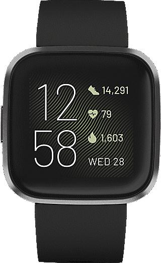 Fitbit Versa 2 Smart Fitness Watch (Black/Carbon)