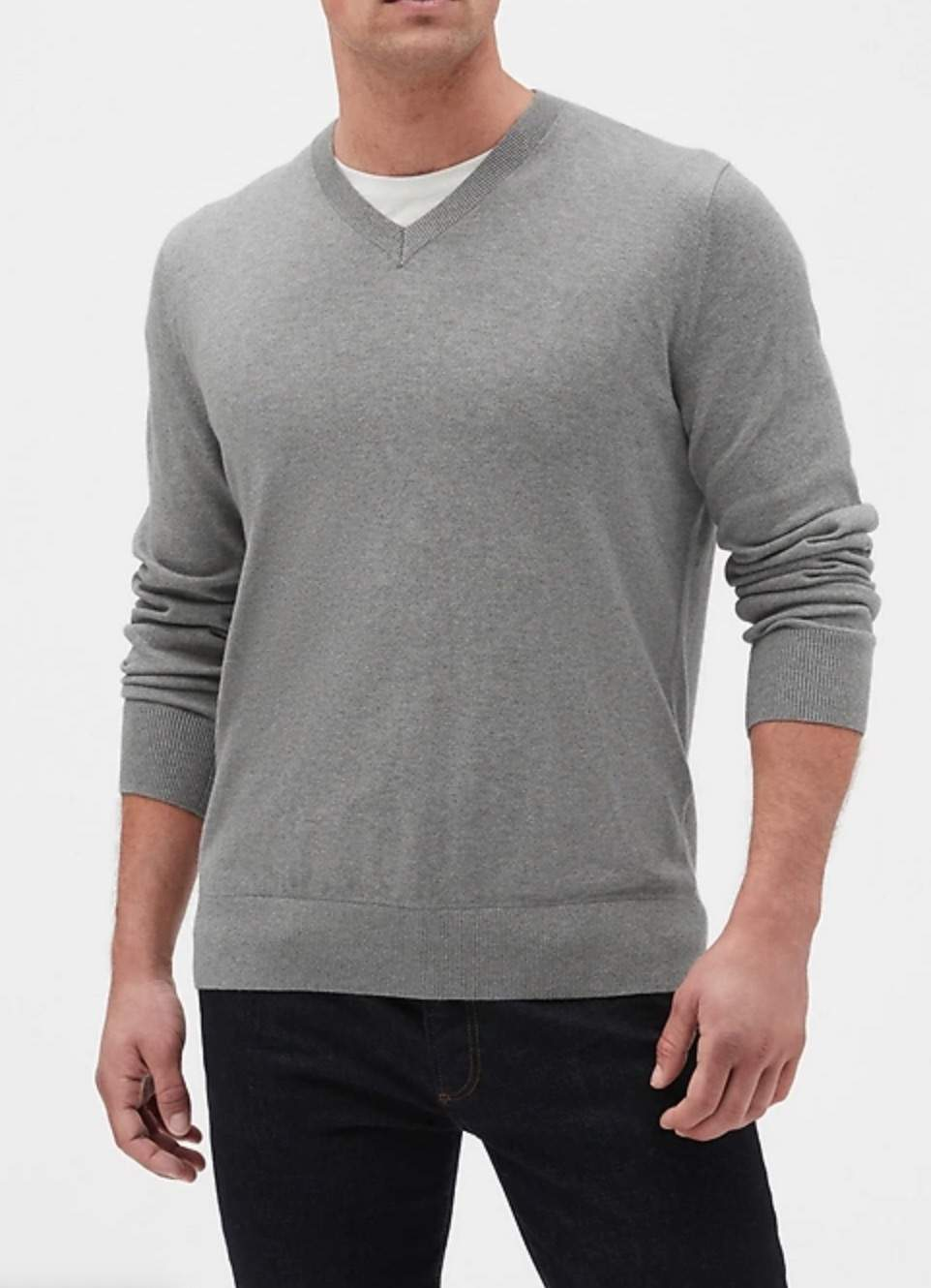 Gap Factory: Men's Colorblock Full-Zip Bomber Sweater $13, V-Neck Sweater