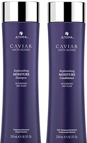 CAVIAR Anti-Aging Replenishing Moisture Shampoo and Conditioner Set, 8.5-Ounce