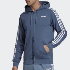 Adidas男款Essentials连帽外套 雾霾蓝