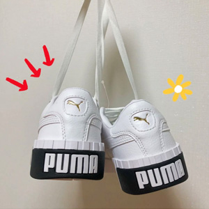 Big 3.5码有货!PUMA X Cali 经典中大童款黑白配色休闲鞋