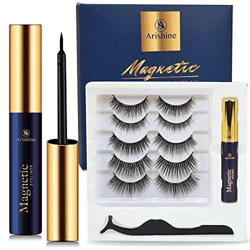 可重复使用磁性睫毛和眼线膏套装,无需胶水超方便