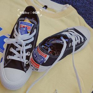 Converse All Star Logo Play串标撞色大童款帆布鞋