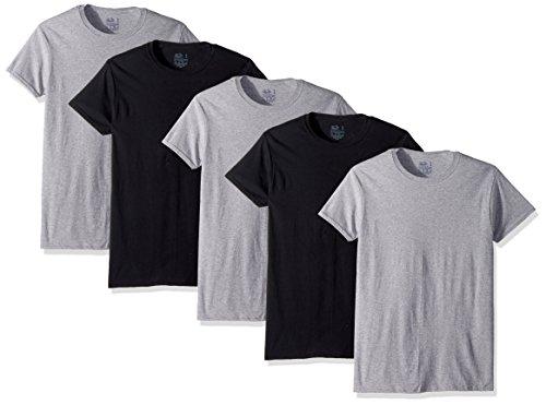 男士黑灰色短袖T恤 5件