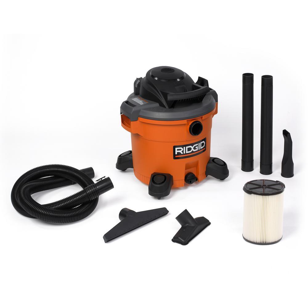 Ridgid 12-Gallon 5.0-Peak HP Wet/Dry Vacuum