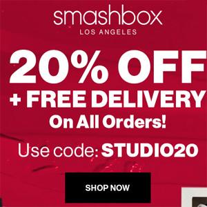 Smashbox英国官网优惠码日常更新 2/25