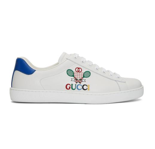 Gucci男士小网球运动鞋运动鞋