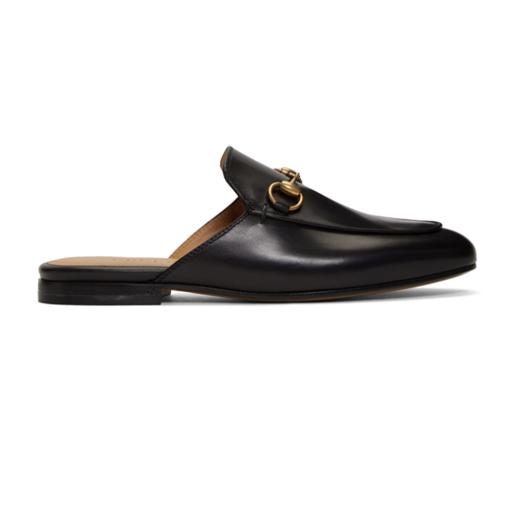 Gucci Black Princetown Slippers乐福鞋