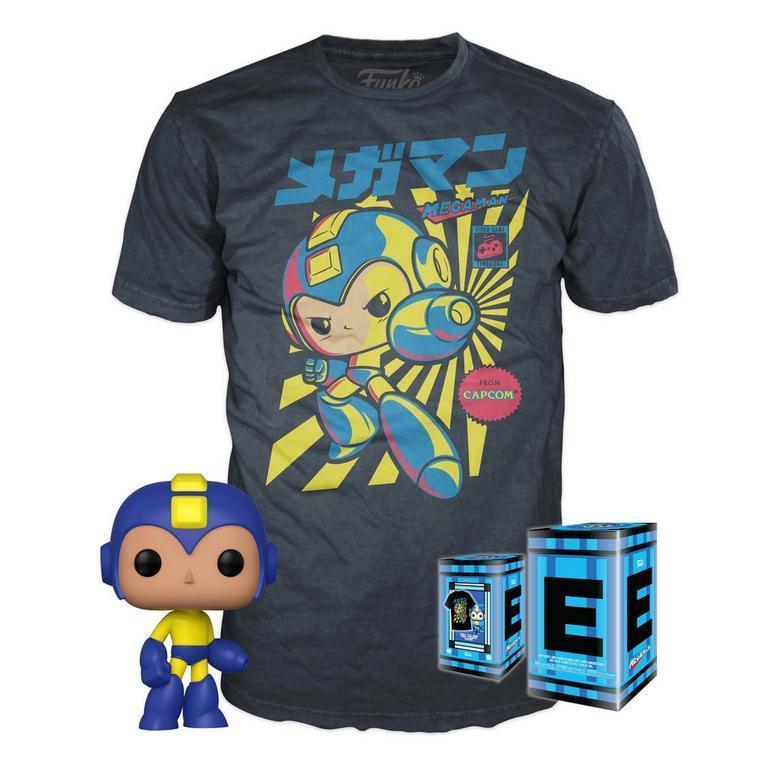 Funko POP! Tee + Figure Combo: Joker, Batman, Mega Man, Superman, Flash