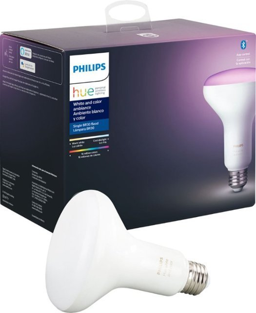 Philips Hue White & Color Ambiance BR30 Smart LED Bulb (2nd Gen)