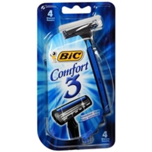 4-Count Men's BIC Comfort 3 Sensitive Disposable Shavers