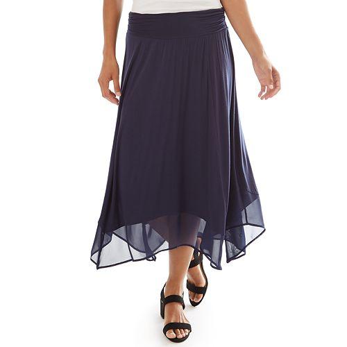 Kohl's Cardholders: Women's Apt 9 Handkerchief Hem Midi Skirt (various colors) from $5.05 + Free Shipping