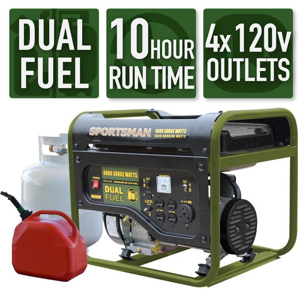 Sportsman 4,000/3,500-Watt Dual-Fuel Powered Portable Generator