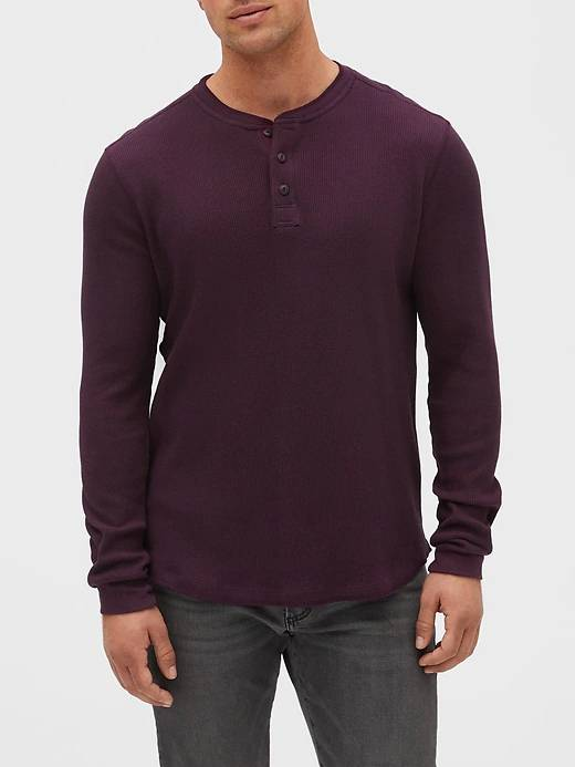Gap Factory Men's Clothing: Slim-Fit Distressed Jeans $15.30, Waffle-Knit Henley
