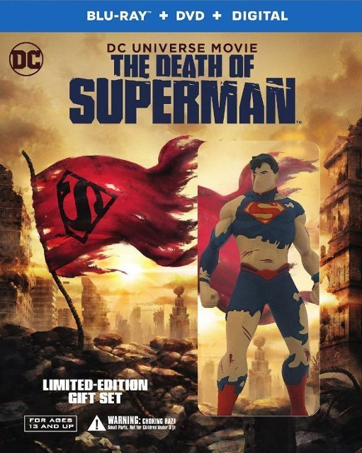 The Death of Superman Deluxe Edition w/ Figurine (Blu-ray + DVD + Digital HD)