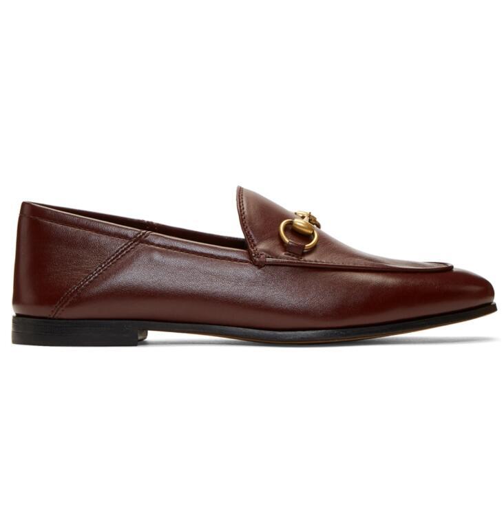 Gucci 酒红乐福鞋