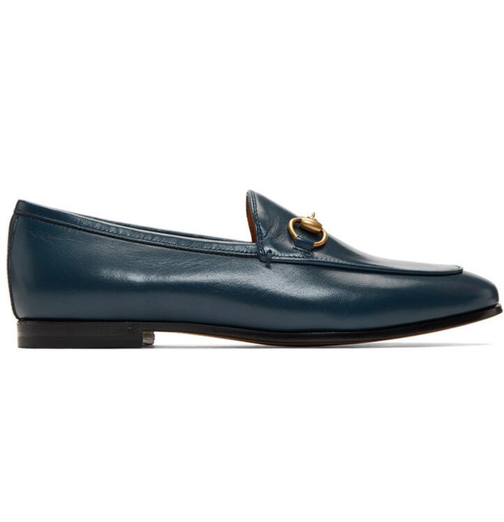 Gucci Blue Jordaan乐福鞋蓝色