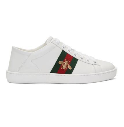 Gucci蜜蜂小白鞋
