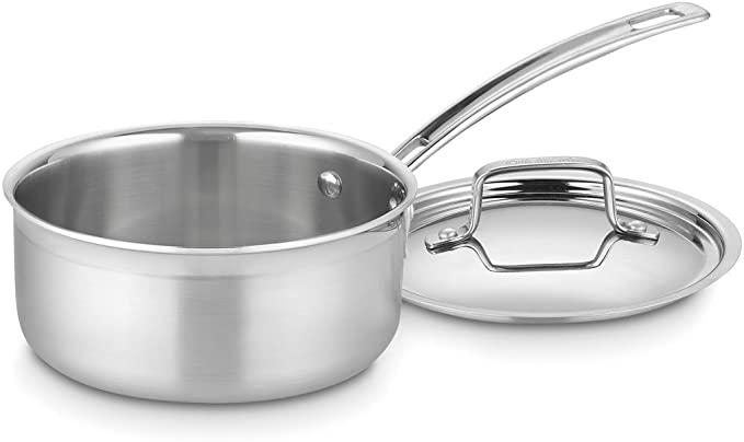 Cuisinart 三层复合不锈钢带盖汤锅 1.5夸脱