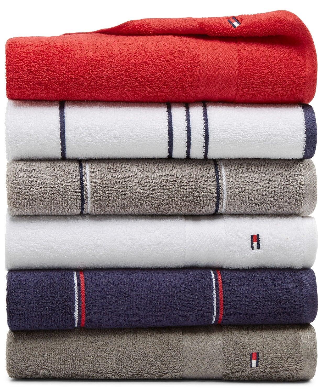 Tommy Hilfiger All American II 100% Cotton Bath Towel $5, Washcloth