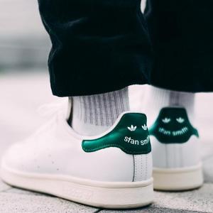 可配情侣!Adidas 阿迪达斯Stan Smith 笑脸绿尾男款板鞋