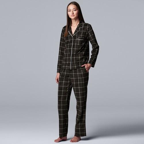 Kohl's Cardholders: Women's Simply Vera Wang Fleece Pajama Set (Various Colors)