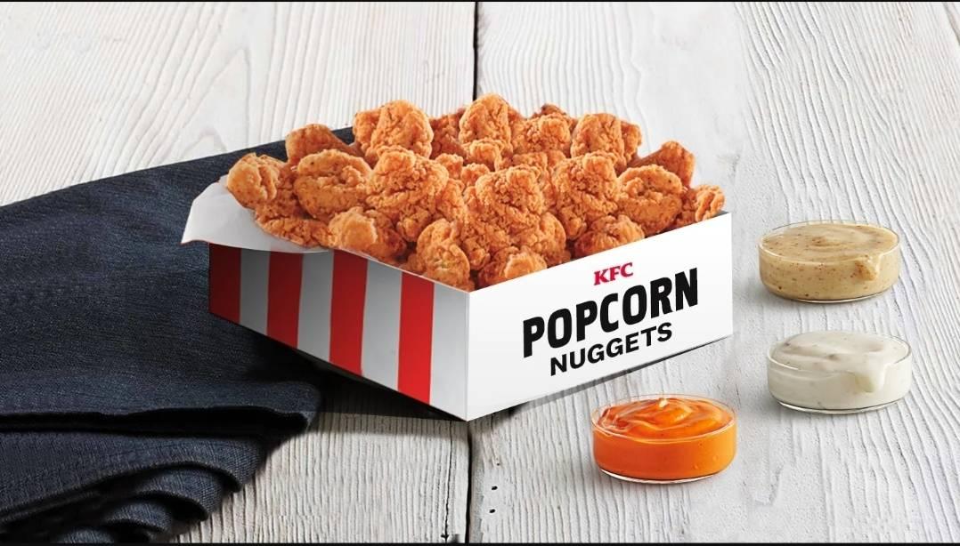 KFC Restaurant: Extra Large Popcorn Chicken Nuggets Box