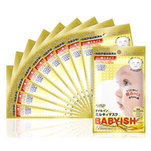 KOSE高丝 高浸透保力紧致保湿 婴儿肌面膜 10枚 金色款