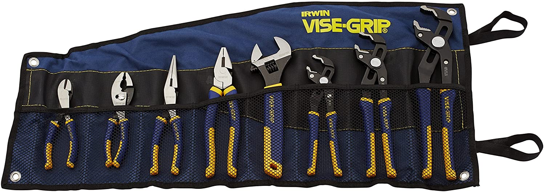 8-Piece Irwin Tools Vise Grip Groovelock Pliers Set