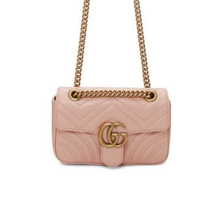 Gucci Pink Mini Marmont 链条包