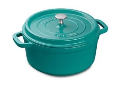 Staub 4-Quart Round Cocotte Cast Iron Dutch Oven (4 colors)