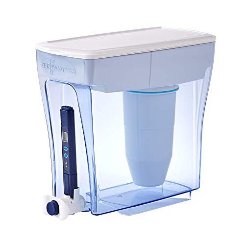 史低价!ZeroWater 20杯超大容量净水壶,包括电子TDS水纯度测试仪