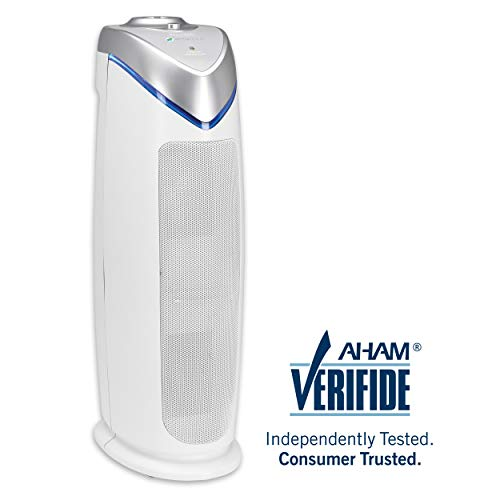 Germ Guardian True HEPA Filter Air Purifiers, Filters Allergies, Pollen, Smoke, Dust, Pet Dander, UV-C Sanitizer Eliminates Germs, Mold, Odors, Quiet 22 inch 3-in-1 B07GBL679N