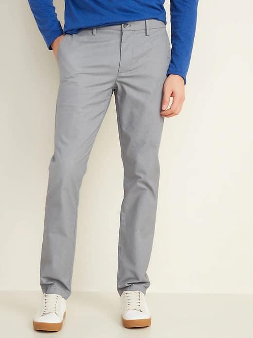 Old Navy: Men's Slim Go-Dry Performance Pants or Linen-Blend Pants